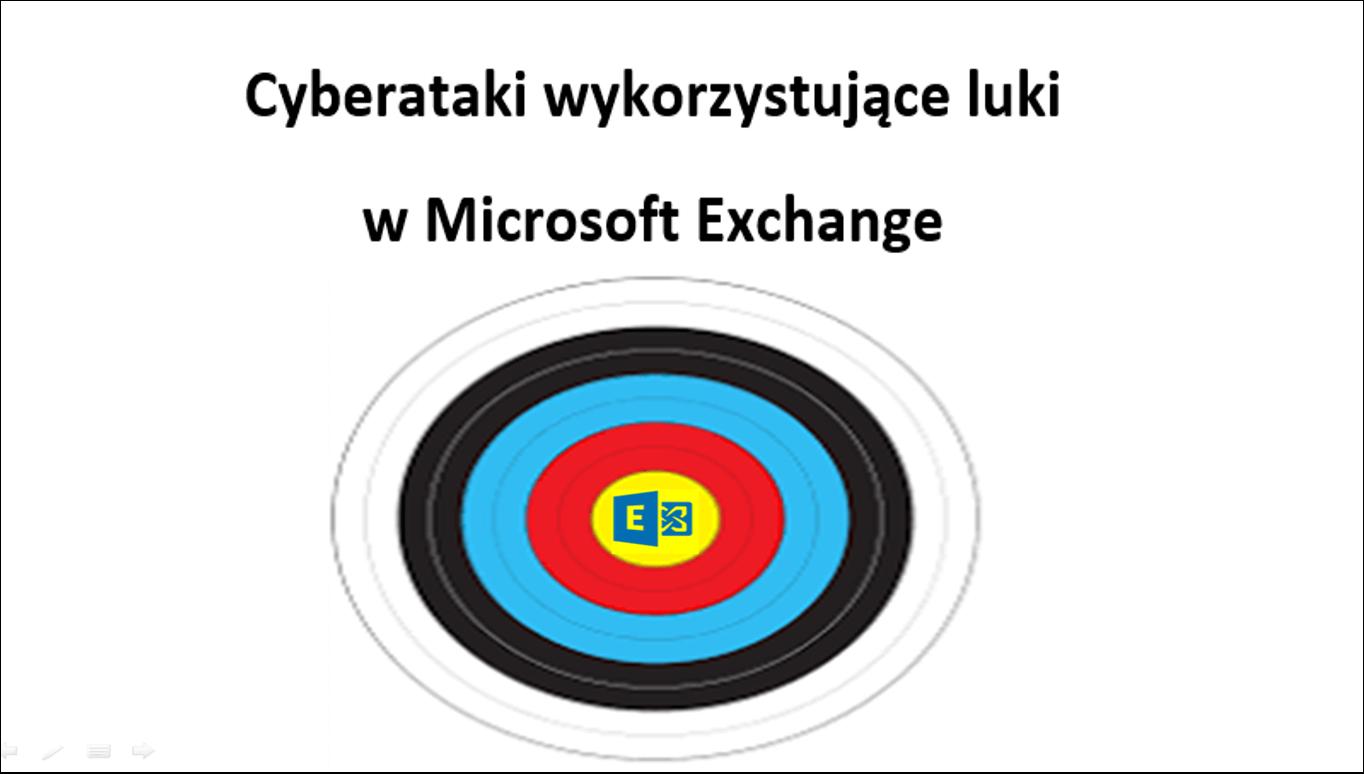 Cyberataki wykorzystujące luki w Microsoft Exchange