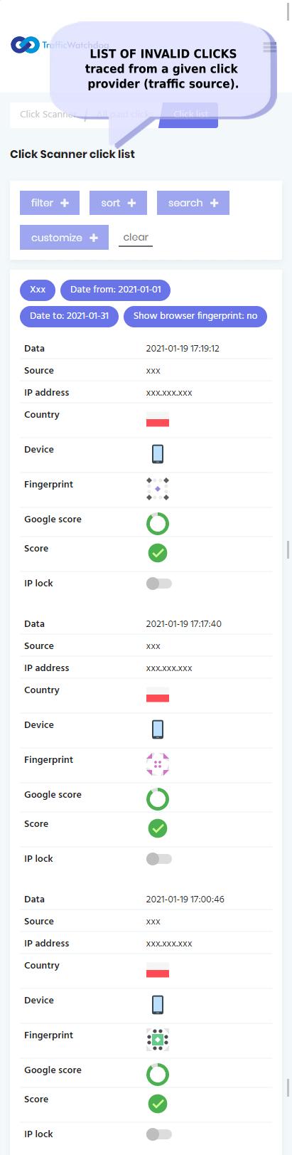 trafficwatchdog dashboard screencapture